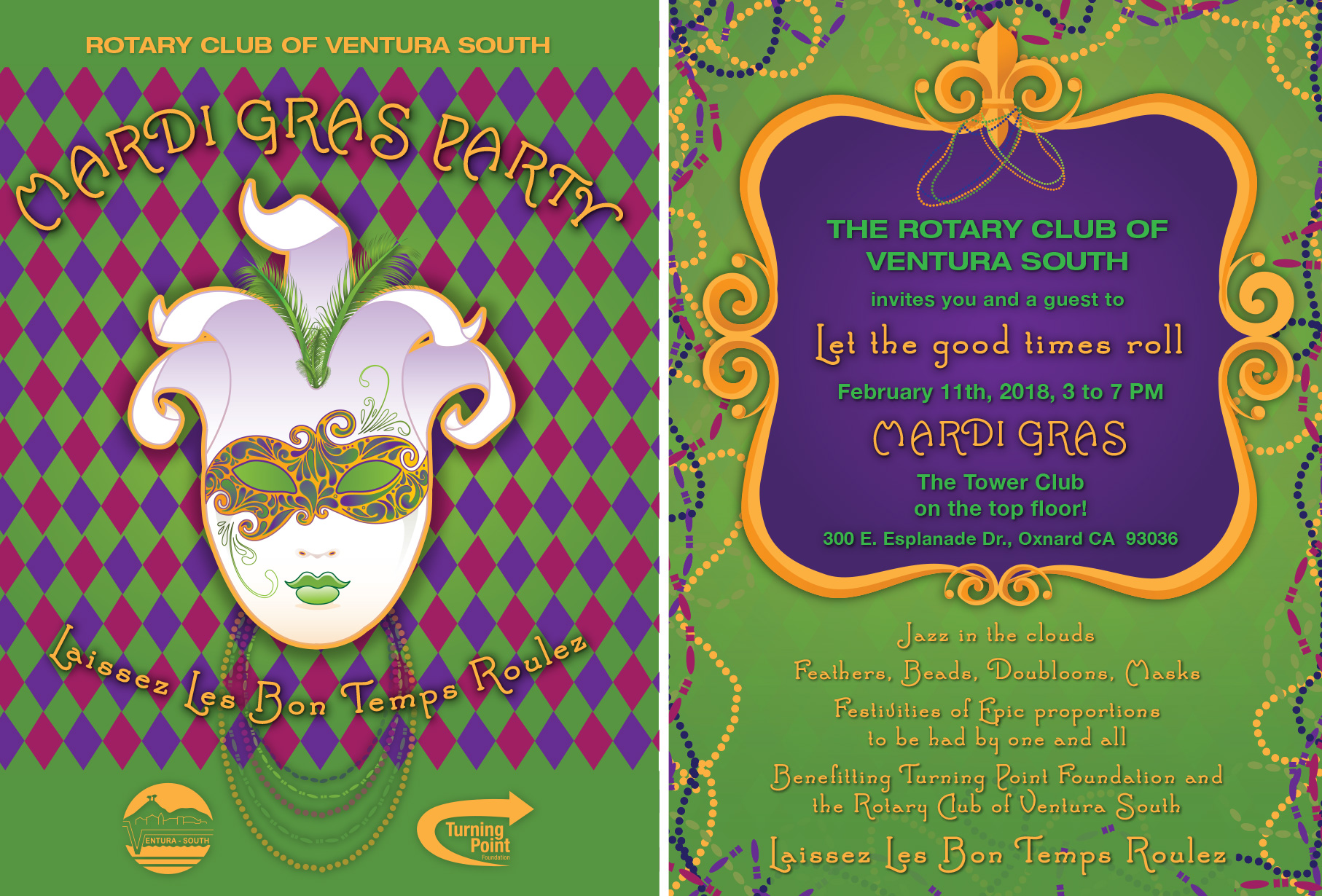 Mardi Gras Party – The Tower Club